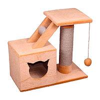 Когтеточка - лежанка домик с лесенкой 7 Котиков