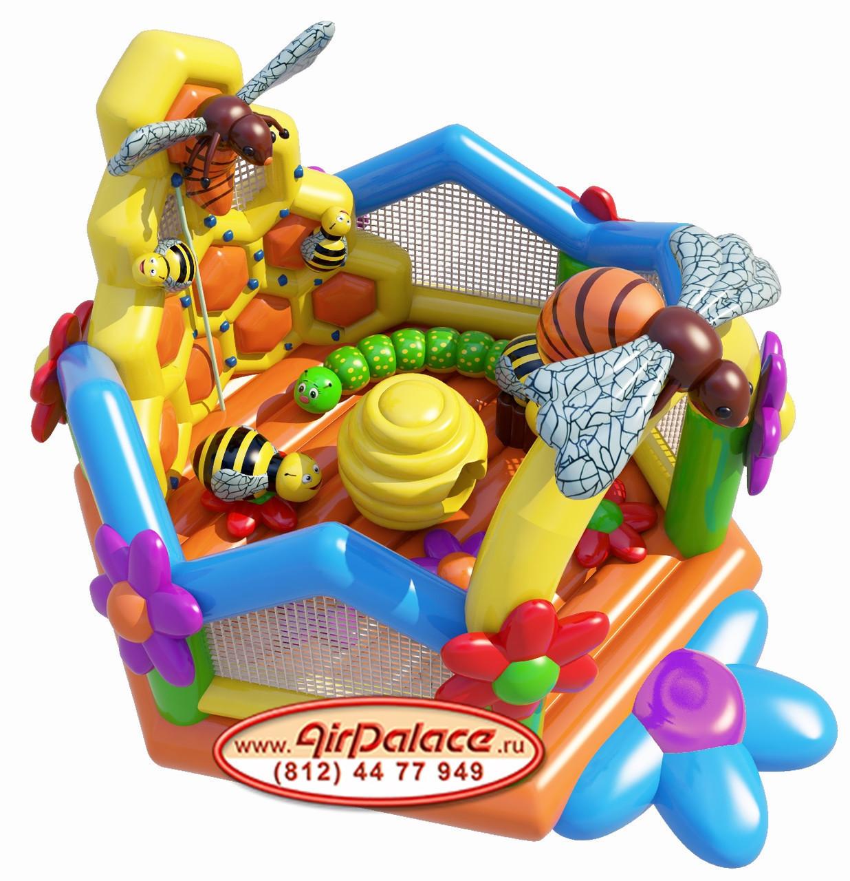 Детский батут надувной Пчелиный домик 6,4*6,2*4,1 м по акции