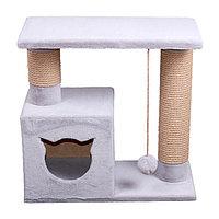 Когтеточка - лежанка домик с колонной 7 Котиков