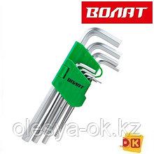 Набор ключей шестигранных 1,5-10мм 9шт удлиненных ВОЛАТ (11010-09)