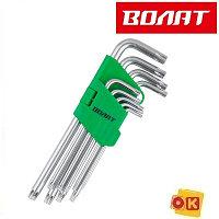 Набор ключей Torx T10-T50 9шт удлиненных ВОЛАТ 11020-09)