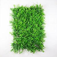 Коврик микс растений искусственный, (L60см, W40см), светло-зеленый