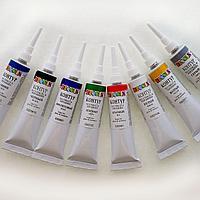 Краски акрил контур ЗХК Decola 18 мл ткань телесный,лимонка,черный,золото,коралловый,белый