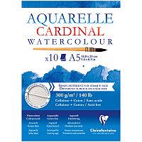 """Альбом для акварели 10л., А5, на склейке Clairefontaine""""Cardinal"""",300г/м2,торшон,холод.пресс.,хлоп"""