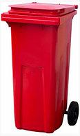 Мусорный контейнер п/э (120л), красный