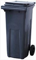 Мусорный контейнер п/э (120л), серый