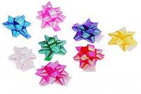 Бант-звезда для оформления подарков перламутровый ассорти
