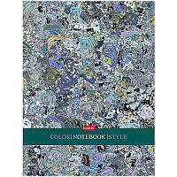 """Бизнес-блокнот А5 80л. Hatber """"Color style"""", 5-ти цветный блок, глянцевая ламинация"""
