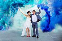 Цветной дым, 1шт Синий