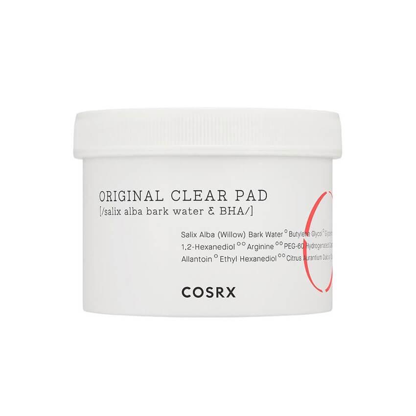 COSRX Очищающие Пэды для лица с BHA-кислотой One Step Original Clear Pad / 70 шт.
