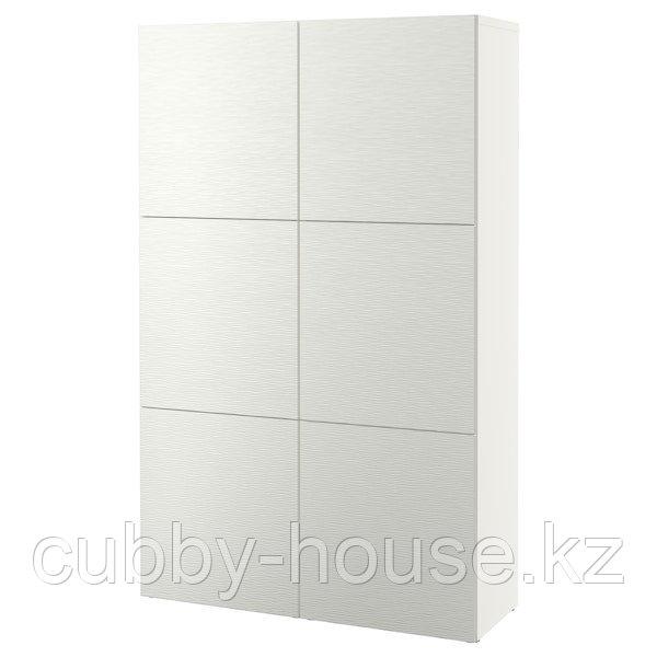 BESTÅ БЕСТО Комбинация для хранения с дверцами, белый/Лаксвикен белый, 120x42x193 см
