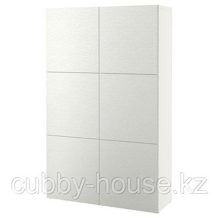 BESTÅ БЕСТО Комбинация для хранения с дверцами, белый/Лаксвикен белый, 120x42x193 см, фото 2