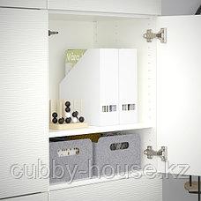 BESTÅ БЕСТО Комбинация для хранения с дверцами, белый/Лаксвикен белый, 120x42x193 см, фото 3