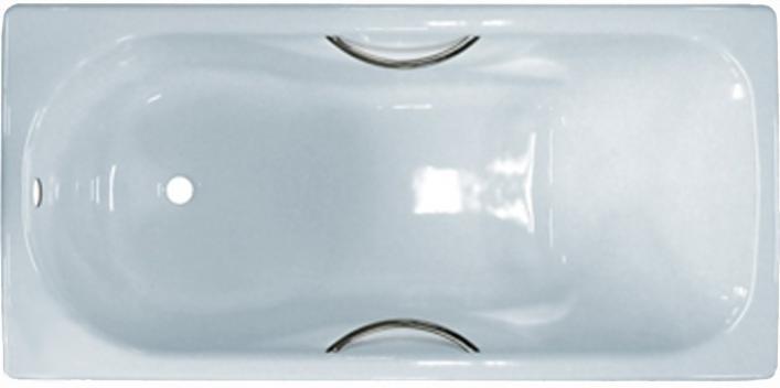 Ванна чугунная Универсал 1500*750 мм Сибирячка-У с ручками (Сибирячка-1500Р)