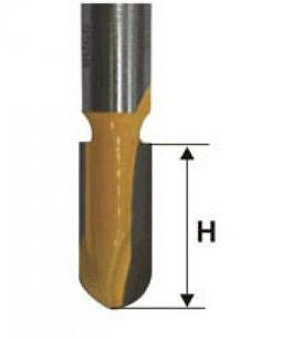 Фреза пазовая галтельная ф25,4х32 мм R12,7 мм хвостовик 12 мм