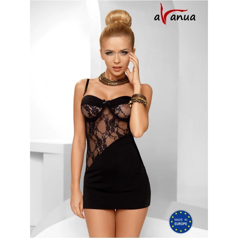 """Платье-сорочка """"TIFFANY CHEMISE"""" black - Avanua, размер S"""