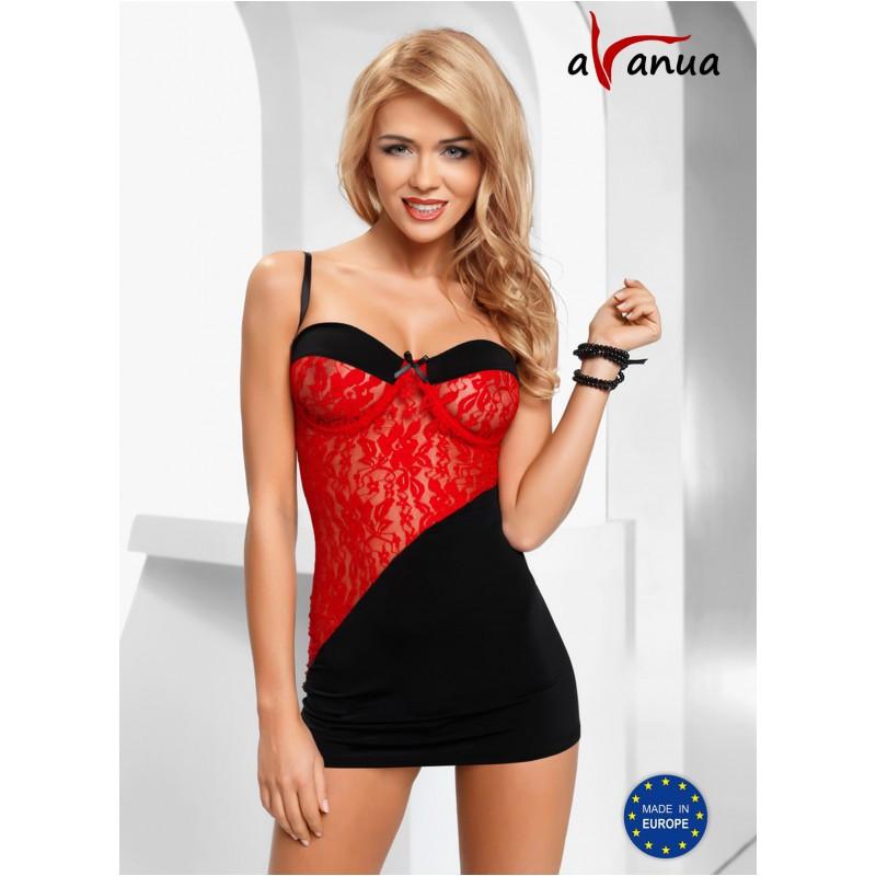 """Платье-сорочка """"TIFFANY CHEMISE"""" red - Avanua, размер S"""