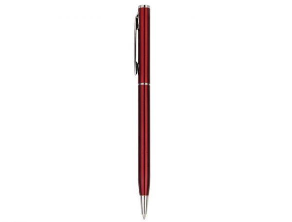 Ручка металлическая, бордовая