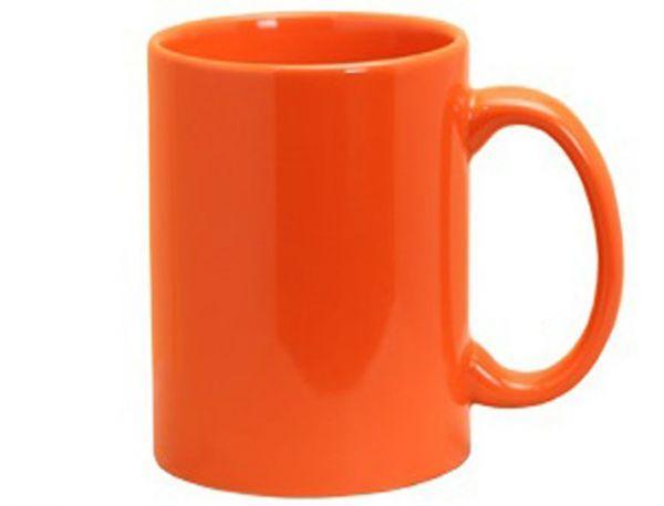 Керамическая кружка (оранжевая)