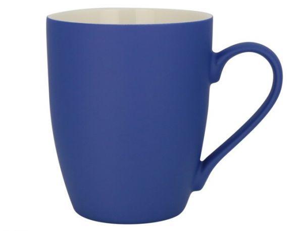 Керамическая кружка с прорезиненным покрытием, 340мл (синяя)