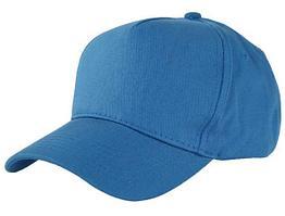 Бейсболки 5 панельные, 100% хлопок (Голубой)