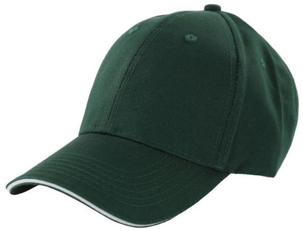 Бейсболки 6-панельные, 100% хлопок (Темно - зеленый)