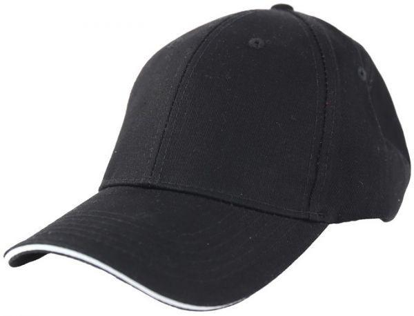 Бейсболки 6-панельные, 100% хлопок (Черный)