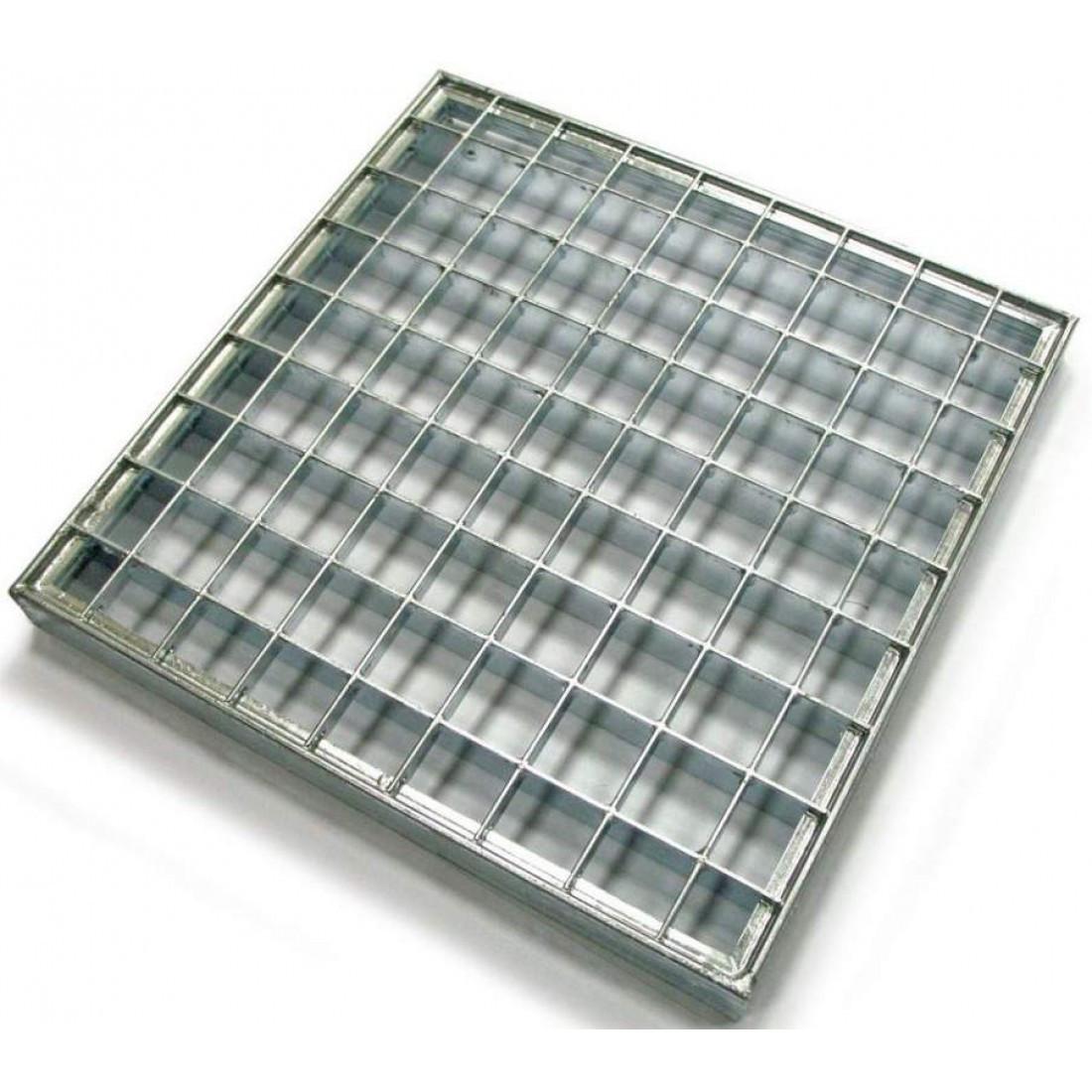 Решетка стальная 400x1000 мм (полоса 30x2 мм) мм (ячейка 33x33 мм), 9,4кг
