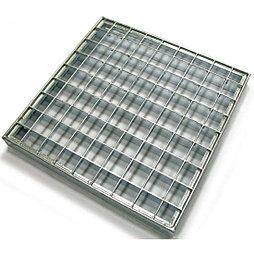 Решетка стальная 600x1000 мм (полоса 30x2 мм) мм (ячейка 33x33 мм), 13,6кг