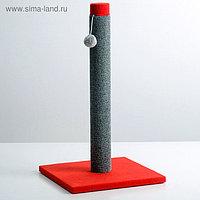 """Когтеточка """"Столбик"""" Lowcost ковролиновая, 54 х 31 см микс цветов и игрушек"""