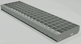 Прессованные ступени с ячейкой 33x33 мм