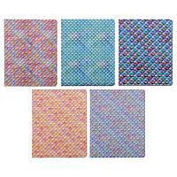 Тетрадь 48 листов в клетку «Чешуя», обложка мелованный картон, перламутровый лак, блок офсет 70 г/м2, МИКС