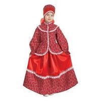 Русский народный костюм 'Забава', головной убор, блуза, юбка, рост 110-116 см