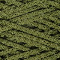 Шнур для вязания с сердечником 100 полиэфир, ширина 5 мм 100м/550гр (51 оливковый)