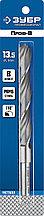 Сверло по металлу, проточенный хвотосвик, сталь Р6М5, класс В, ЗУБР ПРОФ-В 13.5х160мм
