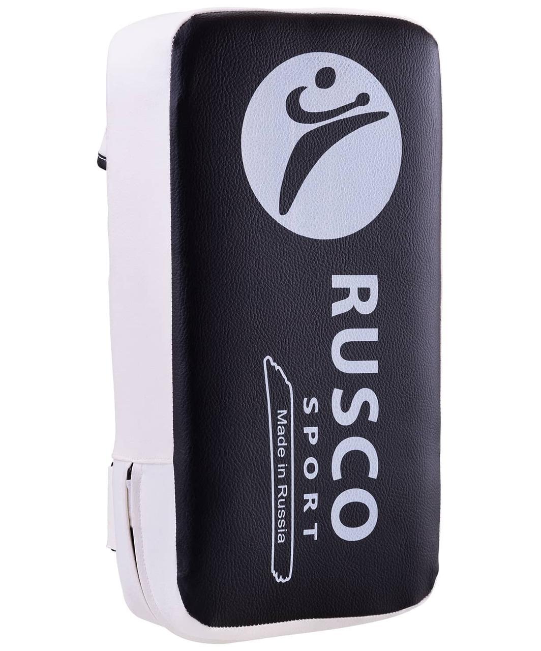 Макивара, 2 ручки, 40х20, к/з, черный/белый Rusco