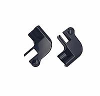 Уголок стыковочный стекло-порог 2 шт. левый+правый | FGD-317 | Черный