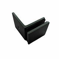 Коннектор DG-1.1 стена-стекло 90˚ | Цинк/ Черный