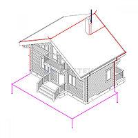 Комплект молниезащиты частного дома MZ 8 Б для бетонного фасада, оцинк.