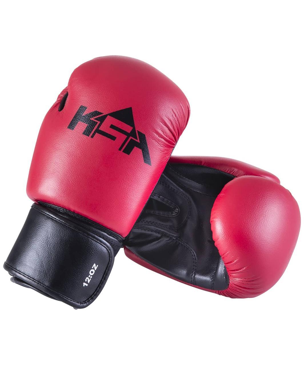 Перчатки боксерские Spider Red, к/з, KSA
