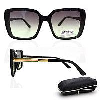 Солнцезащитные очки с черно зелеными стеклами с узором на дужке UV 400 O'NeeiLL N G 28 черные