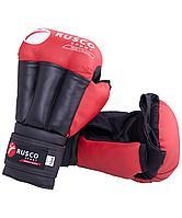 Перчатки для рукопашного боя, к/з, красные Rusco 12oz