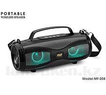 Колонка беспроводная Bluetooth портативная с LED-светящимися глазами MF-208 черная