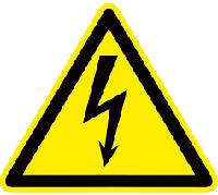"""Знак пластик """"Опасность поражения электрическим током"""" (Молния) W08 (100*100мм.)_EKF PROxima"""