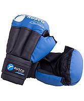 Перчатки для рукопашного боя, к/з, синие Rusco 12oz