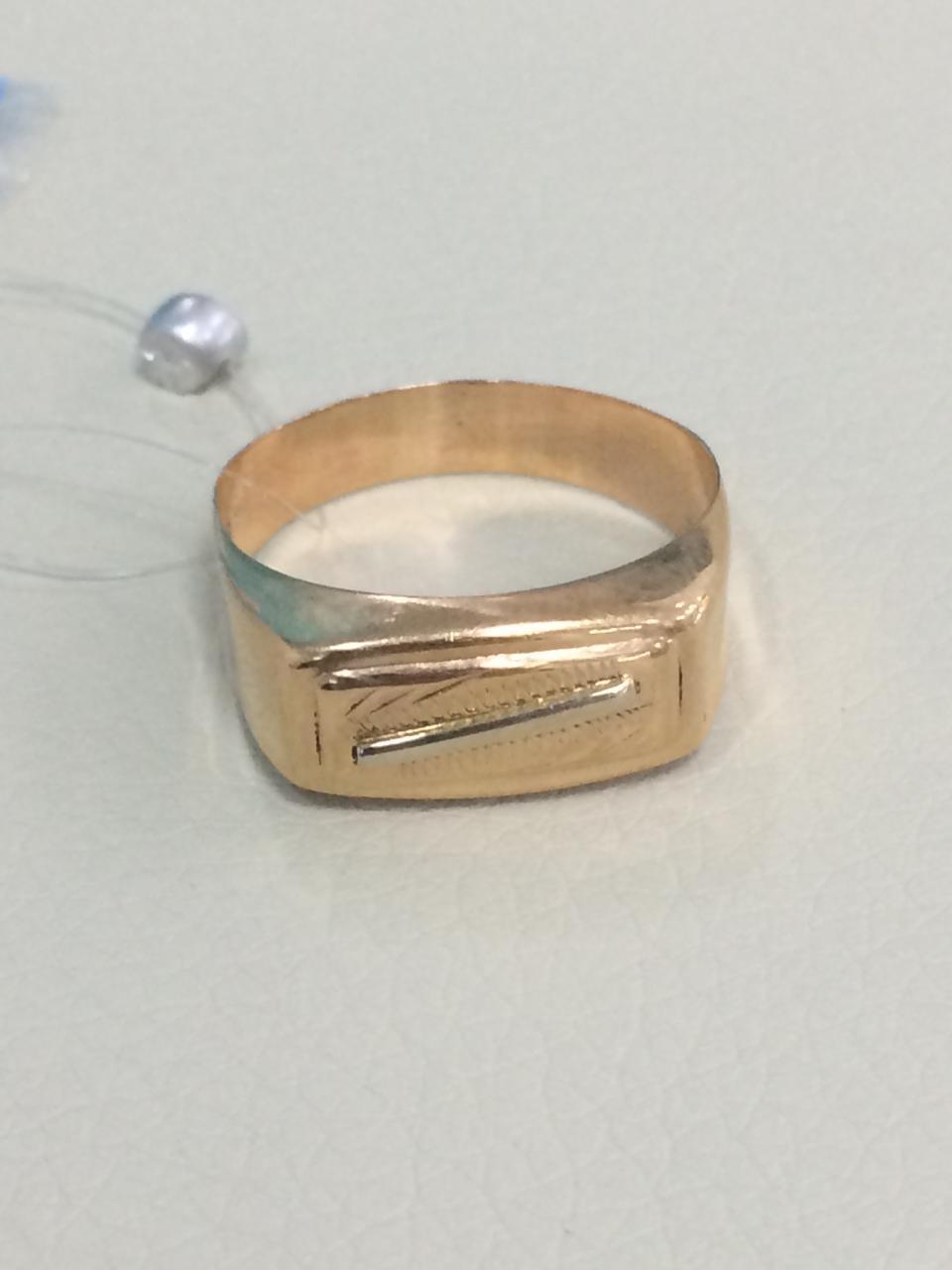 Кольцо мужское / красное золото - 20 размер - фото 2