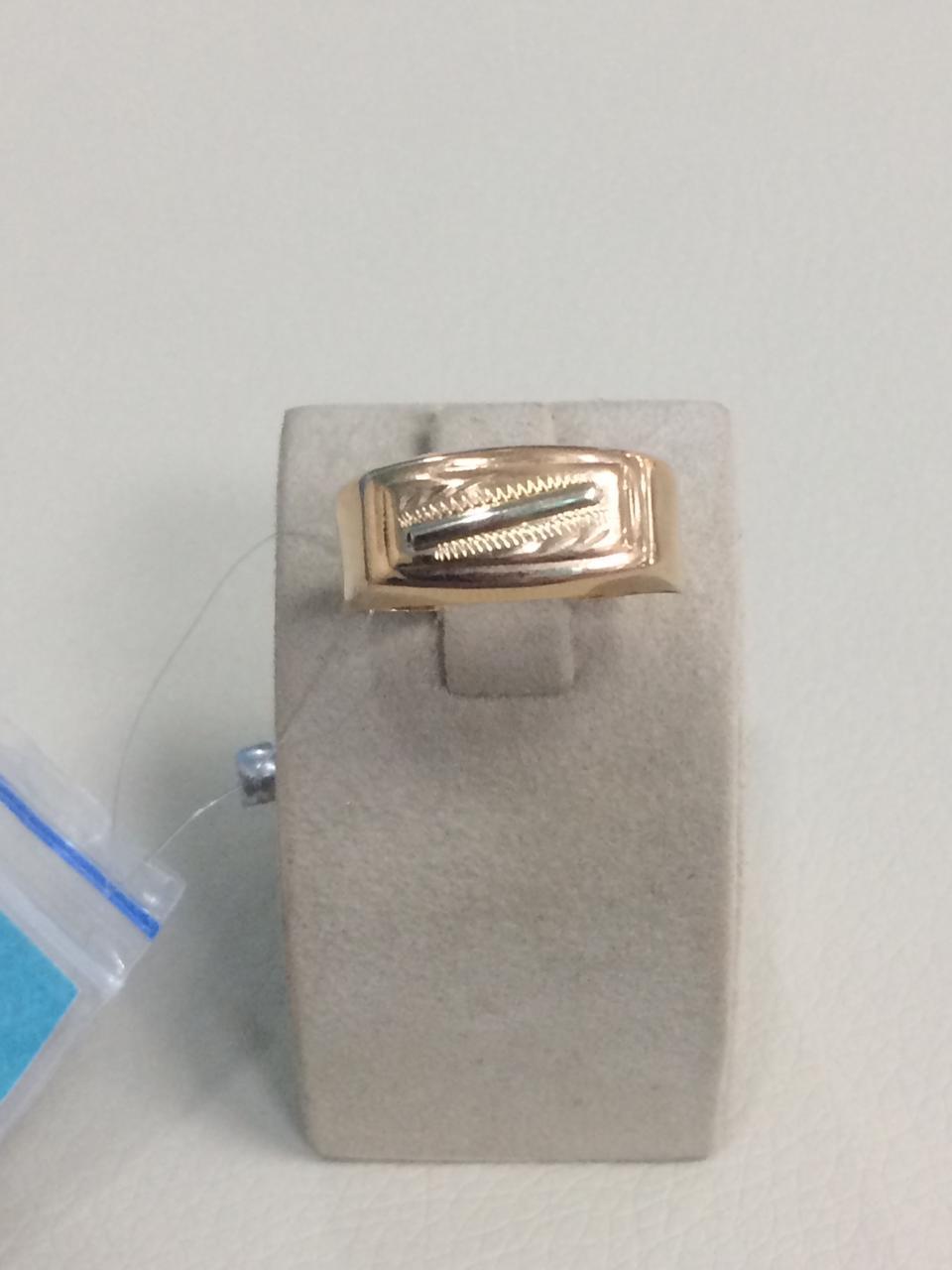 Кольцо мужское / красное золото - 20 размер - фото 1