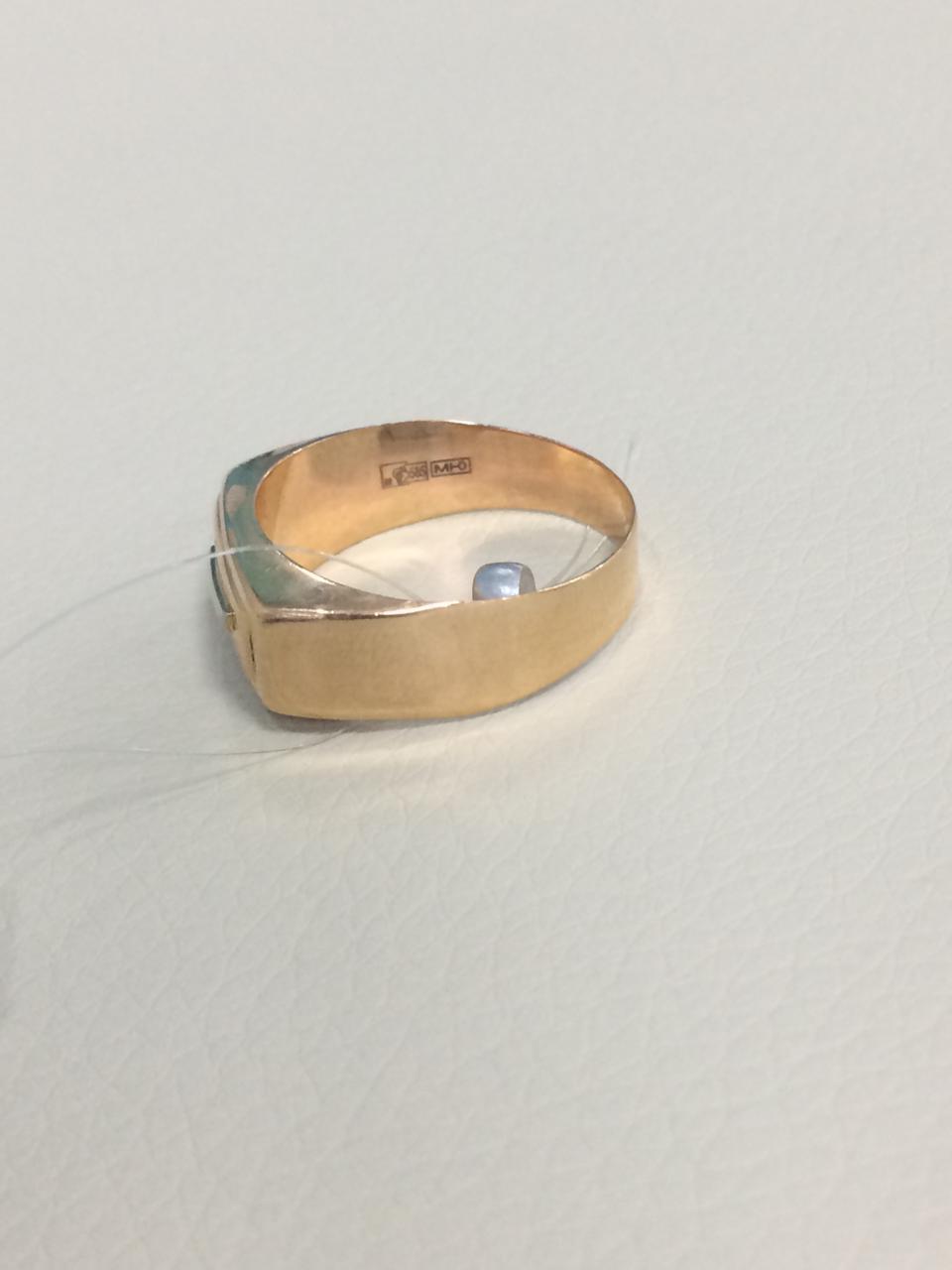 Кольцо мужское / красное золото - 20 размер - фото 5
