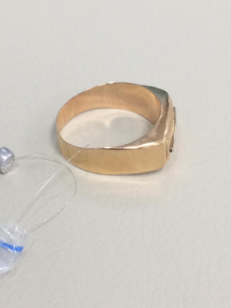 Кольцо мужское / красное золото - 20 размер - фото 3