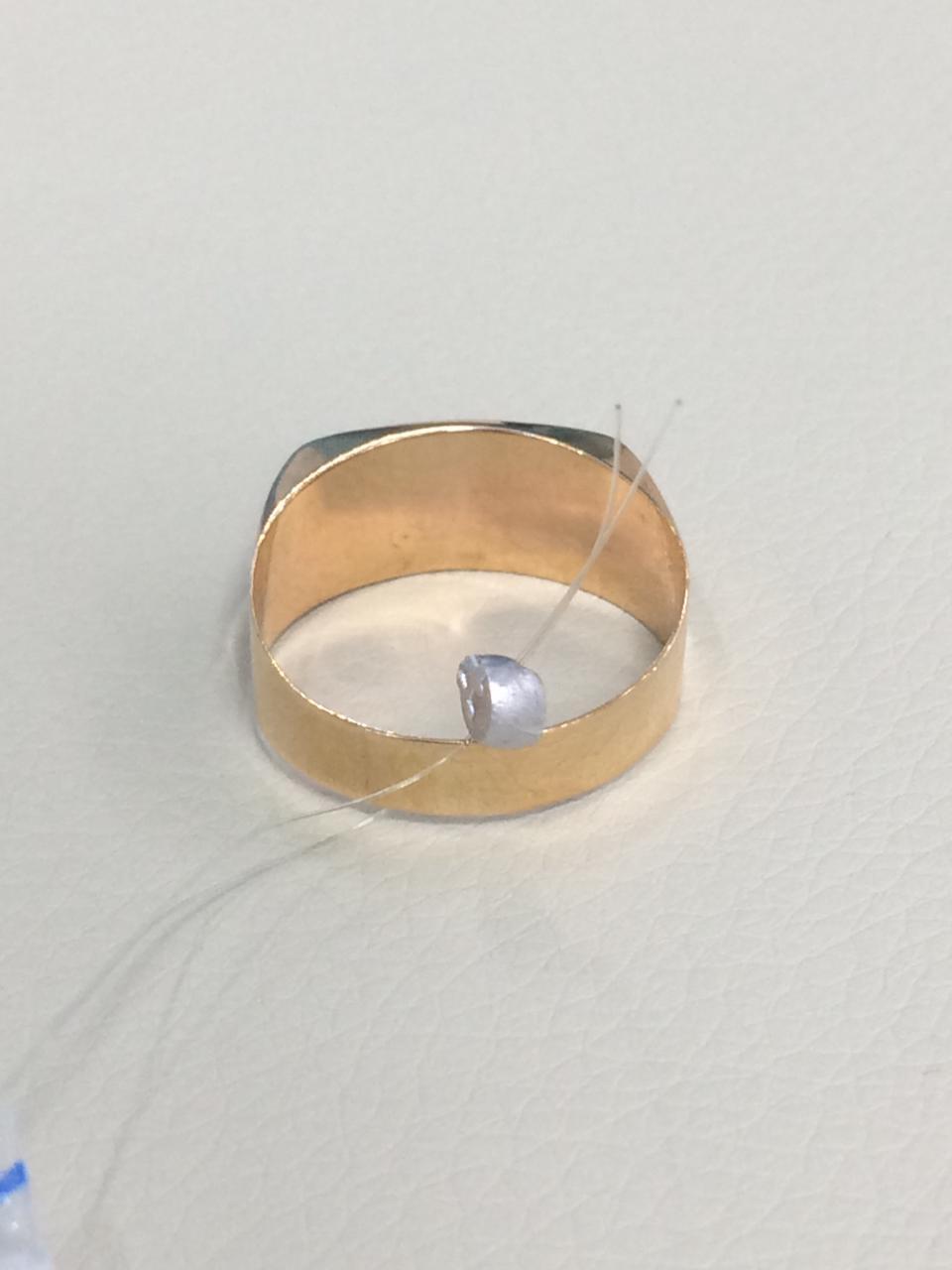 Кольцо мужское / красное золото - 20 размер - фото 4